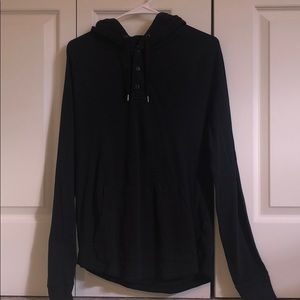 Black American eagle button up jacket